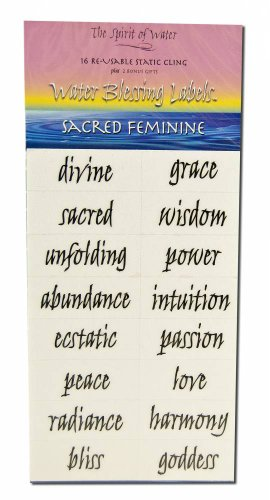 Water Blessing Labels Sacred Feminine Collection 16 -