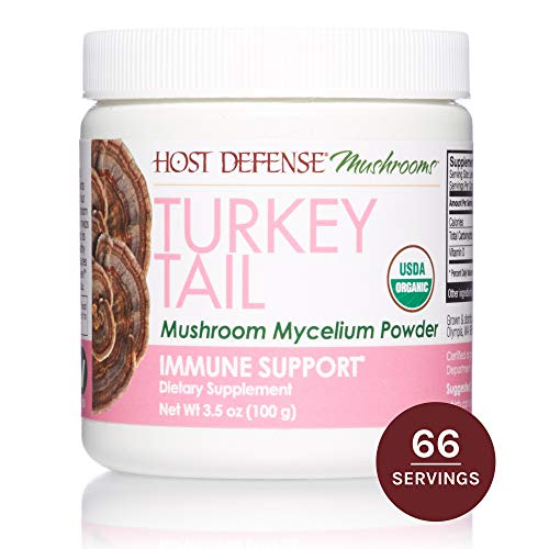 (Host Defense, Turkey Tail Mushroom Powder, Supports Immune Health, Certified Organic Supplement, 3.5 oz (66 Servings))