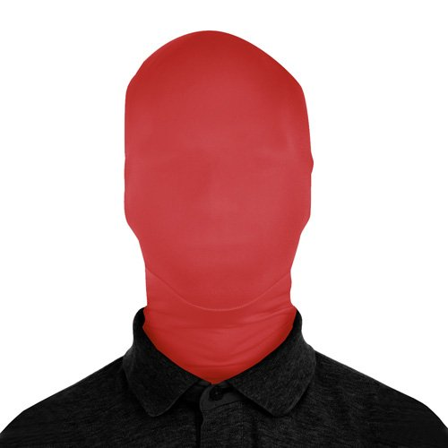 SecondSkin 2Face Solid Spandex Mask - Red (Red Morph Suits)
