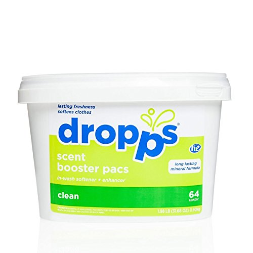 dropps-he-laundry-booster-pacs-with-in-wash-softener-enhancer-clean-scent-64-count