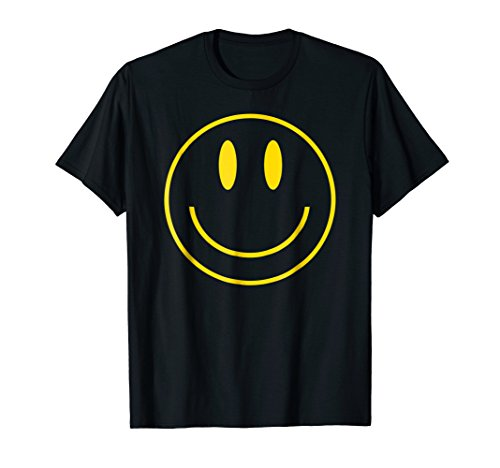 Yellow Happy Smiley Face - Smiley T-shirt Yellow