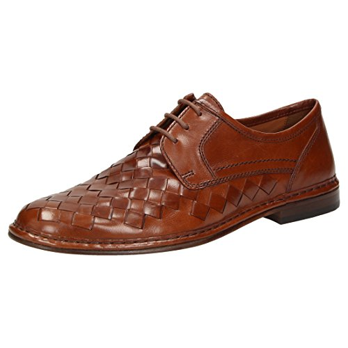 Sioux Men's Lace-Up Flats Brown
