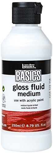 Liquitex BASICS Gloss Fluid Medium, 8.79-oz Bottle (1041006) (Fluid Paint Acrylic)