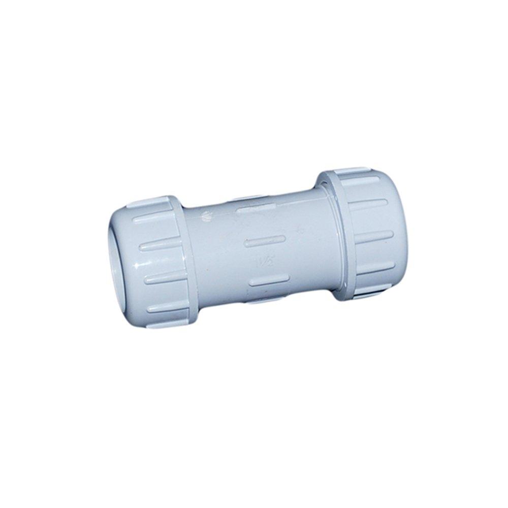 ValveUSA 410-010PV Schedule 40 PVC Compression Couplings, 1''