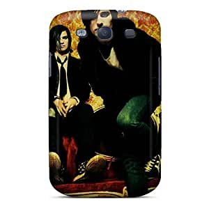 MarieFrancePitre Samsung Galaxy S3 Shock Absorption Hard Phone Cases Support Personal Customs Nice 30 Seconds To Mars Band 3STM Pattern [szT5303Ztoo]