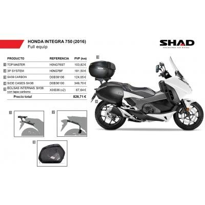 SHAD - KIT-SHAD--6/214 : Maletas laterales, baul, soportes, bolsas kit full: Amazon.es: Coche y moto