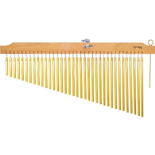 Tycoon Percussion 36 Gold Chimes With  Natural Finish Wood Bar by Tycoon Percussion