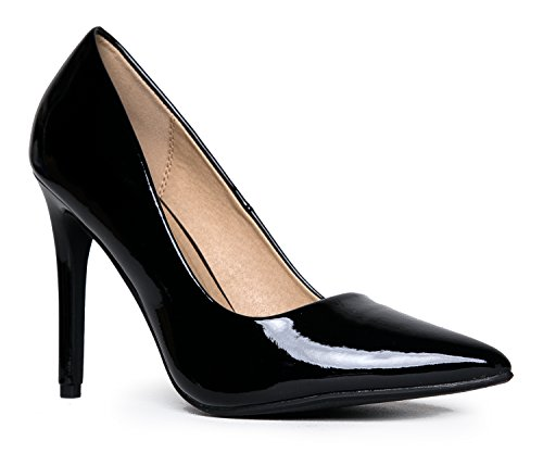 Pumps Adams Heel High Classic Black Slip Toe Kiera Pumps Pointed On J Work Pat Closed gt4qwvwdB