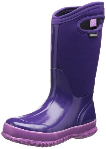 Bogs Classic Solid Waterproof Insulated Rain Boot (Toddler/Little Kid/Big Kid), Grape,1 M US Little Kid (Kids Bog Rain Boots compare prices)
