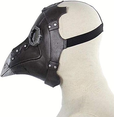 XWYWP Halloween maske Punk Clown Masker Volledige Gezicht Hoofd maskers Vogels Lange Faux Halloween Gothic Retro Vogel Hoofd Masker Eng Grappige Latex Maskers