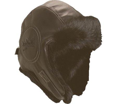 Woolrich Men's Leather Fur Pilot Hat,Brown,L