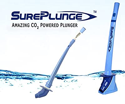 SurePlunge Automatic Plunger - Amazing Co2 Power - Bathroom Toilet Plunger - Literally Easy As 1-2-3
