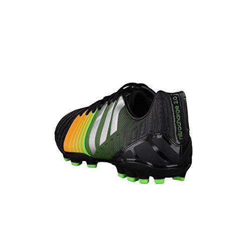 adidas Nitrocharge 3.0 AG - Zapatillas de fútbol Hombre Negra-Silver metallic-Solar gold