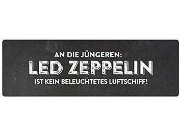 Led Zeppelin Schild Mit Spruch Geschenk Party Geburtstag Partykeller