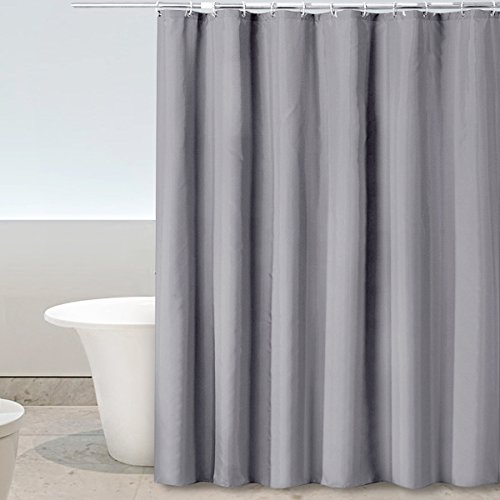 Eforgift Modern Grey Shower Curtain With Hooks Mildew Proof For Adults, 100% Polyester Bathroom