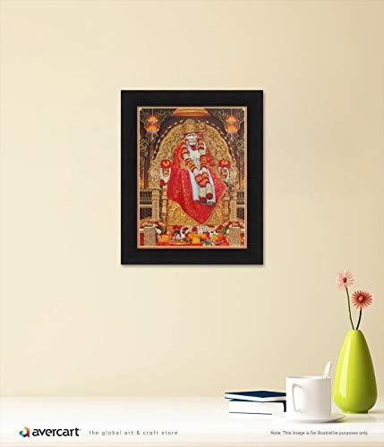 3dfe9ae80df Amazon.com  Avercart Shree Sai Baba - Shirdi Poster 8.5x11 inch Framed  (with Frame Size  10.5x13 inch)  Posters   Prints