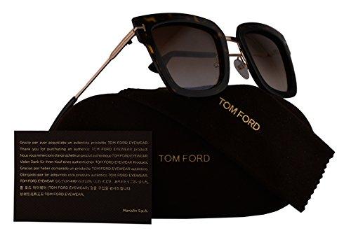 Tom Ford FT0573 Lara-02 Sunglasses Dark Havana w/Brown Gradient Lens 52F - Jennifer Tom Ford Sale Sunglasses