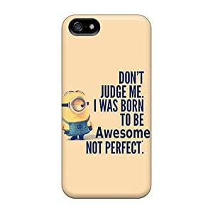 Bumper Hard Phone Cover For Apple Iphone 5/5s With Allow Personal Design Nice Minion Born To Be Awesome Skin AshleySimms