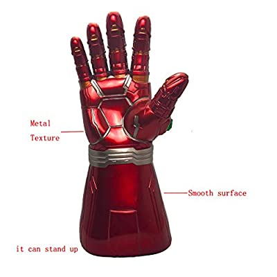 XXF New Infinity Iron Man Gauntlet Gloves. Iron Man Toy for Kids Infinity Gems Light Up Halloween Cosplay Prop.(Kids): Toys & Games