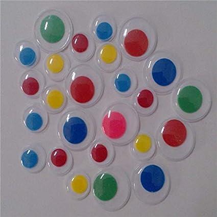 Amazon Com Diy Craft Supplies Colorful Eyeball Pastic