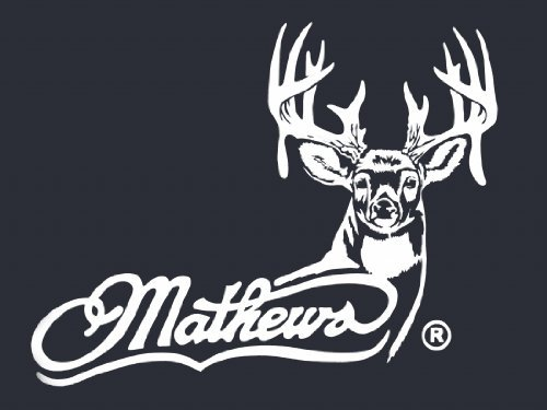 Mathews Archery Logo with Whitetail - White Hunting window decal sticker