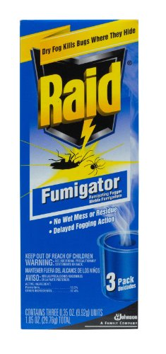 Raid Fumigator Triple-Pack .35-Ounce Cans (Pack of 6) Total 18 Units