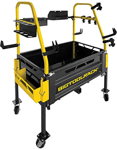 BigToolRack Ultimate Rack Tractor Attachment Carry All - Offers Counterweight - Includes 17 Attachments to Carry More