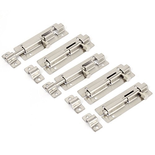 3 pulgadas de largo puerta de plata tono de tapa cierre de la cerradura Barril Perno 5pcs - - Amazon.com