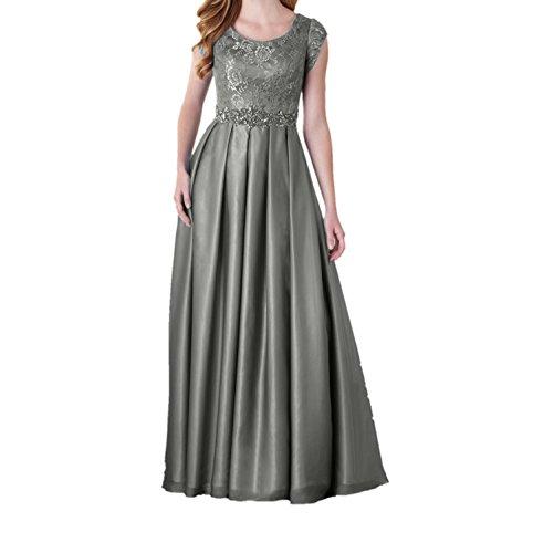 Blau Kurzarm Festlichkleider Promkleider Ballkleider Braut Brautmutterkleider mia Partykleider Grau Lang La Abendkleider aUxF6Rw