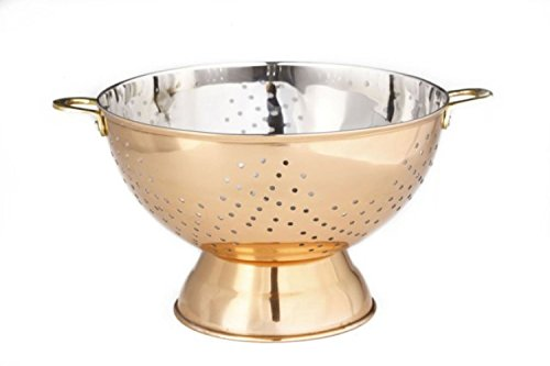 9 Dia. Decor Copper Footed Colander/Centerpiece