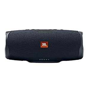 JBL JBLCHARGE4BLKAM Black wireless Bluetooth Streaming, 7800mAh power bank Speakerphone, IPX7 Waterproof, JBL Connect, JBL Bass Radiator, Black