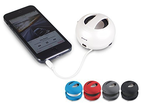 Grey Portable Speaker Ball - External Cell Phone Speaker