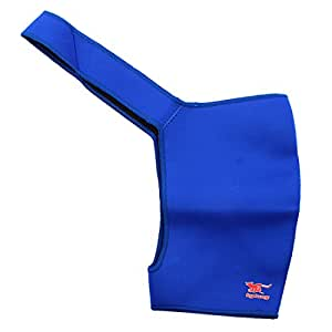 Blue Shoulder Support Elastic Band Neoprene Protective Wrap for Sports