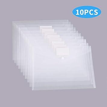 Filing Envelopes Envelope File Document Folder A4 Size Paper Clear Letter NEW