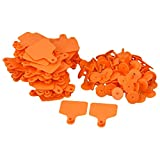 Plastic Universal Livestock No words Ear Tag Tool for Cow Cattle Identification Ear Tag Pack Of 100 orange