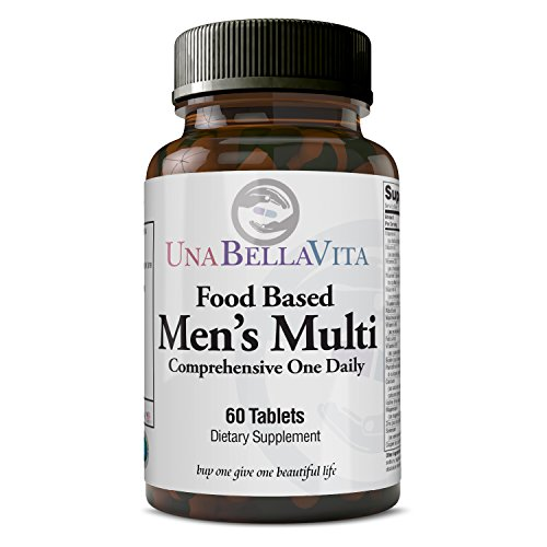 UnaBellaVita |Food Based Men's Multivitamin | 60 Tablets, One a Day | Made in the USA | Immunity, Brain & Vitality Booster, Phytonutrient Rich, Whole Food Base
