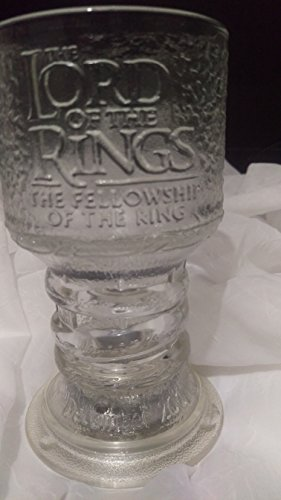 The Lord of The Rings ''The Fellowship of The Ring'' GANDALF Glass Goblet by New Line Production, Inc. (Image #2)
