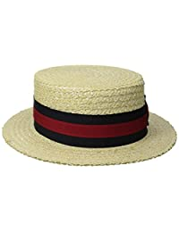 Scala Men's Dress Straw 1 Piece 10/11Mm Laichow Braid Boater Hat