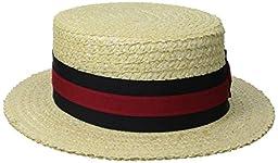 Scala Men\'s Laichow Braid Boater Hat,Bleach,Large