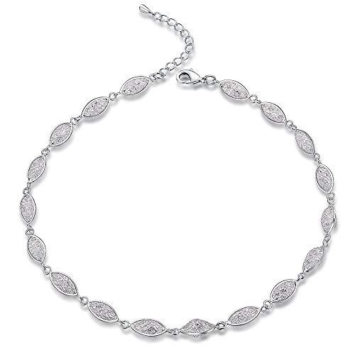 Mytys Platinum Plated Choker Necklace Women