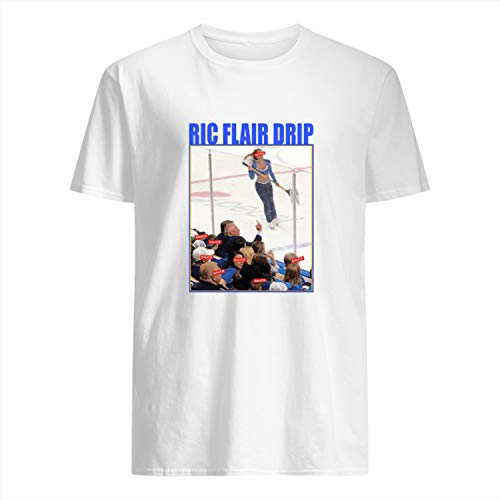 USA 80s TEE RIC Flair Drip Shirt White