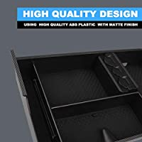 Black, Pack of 1 CAR ROVER Center Console Organizer Insert Tray with ABS Materials Armrest Box Secondary Storage for 2007-2019 Toyota Tundra//2008-2019 Sequoia