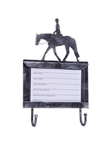 Horse Halter Sizes (Tough-1 Deluxe Stall Card Holder w/ Hooks - Quarter Horse)