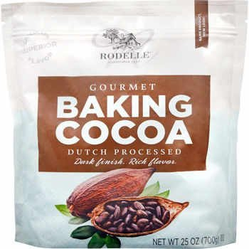 Rodelle Gourmet Baking Cocoa Powder, Dutch Processed, 25 oz in a resealable bag