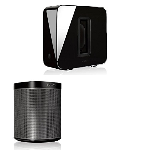 Sonos 2.1 Home Theater System PLAY:1 and SUB Combination (Black)