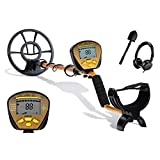 Nalanda 18 kHz Metal Detector with 5 Detection Modes, Outdoor Gold Digger Handheld Metal Finder with Adjustable Sensitivity Waterproof Search Coil LCD Display (Included Earphones & Foldable Shovel)