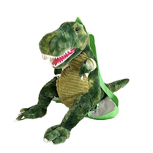 Fashion Women Cute Backpack Plush Dinosaur Bag Student Winter Hand Warmer Bag (Green) ()