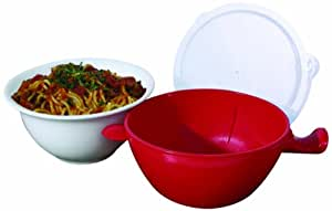 Handy Gourmet JB6502 Red Cool Touch Micro Bowl, Red