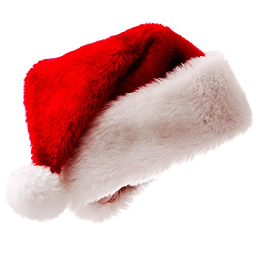 Plush Santa Hats for Christmas Party