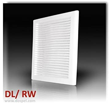 Air Vent Grille Cover White Ventilation Plastic Cover Extended Duct  170x240mm By DOSPEL